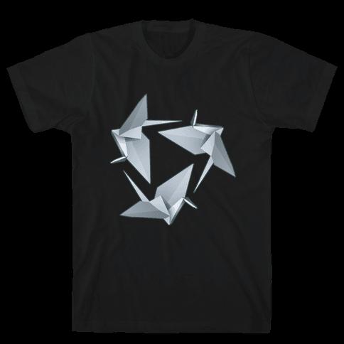 Origami Paper Crane Mens T-Shirt
