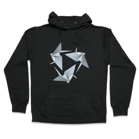 Origami Paper Crane Hooded Sweatshirt