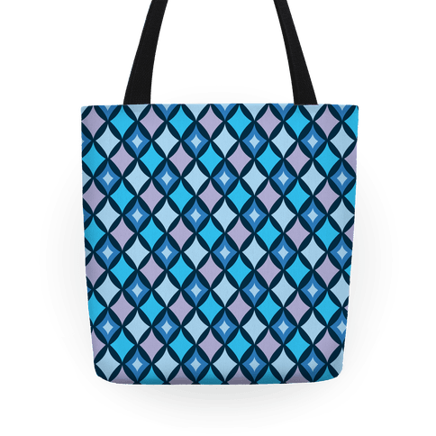 Diamond Pattern Tote (Blue) Tote