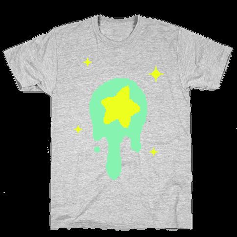 Gooey Pixel Star Mens T-Shirt