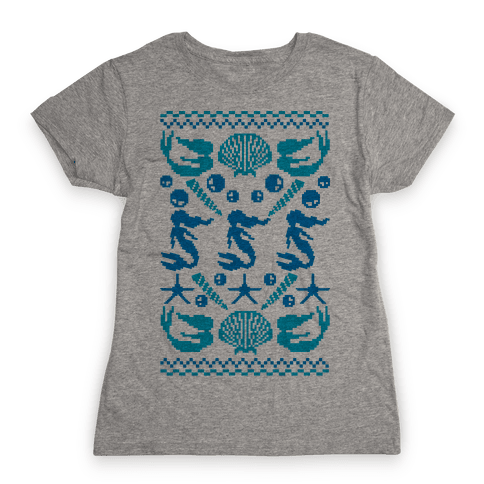Ugly Mermaid Sweater Womens T-Shirt