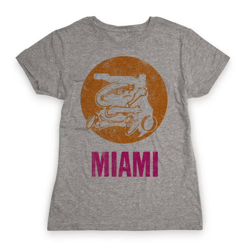 Miami (Vintage) Womens T-Shirt