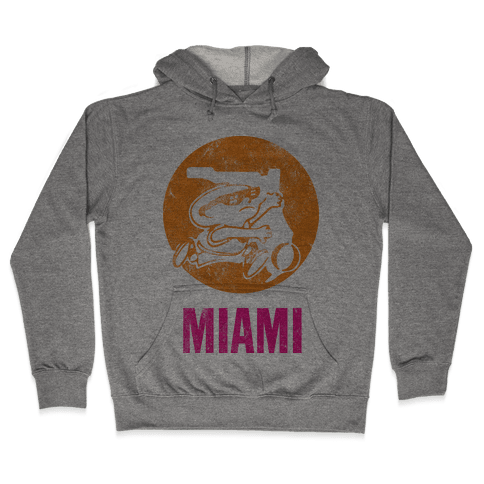 Miami (Vintage) Hooded Sweatshirt