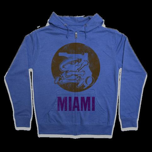 Miami (Vintage) Zip Hoodie