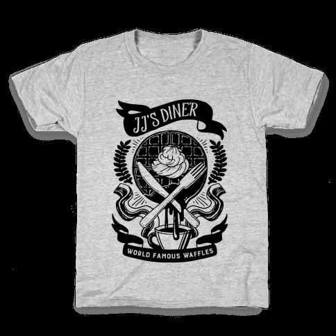 JJ's Diner: Belgian Waffle Crest Kids T-Shirt