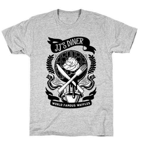 JJ's Diner: Belgian Waffle Crest T-Shirt