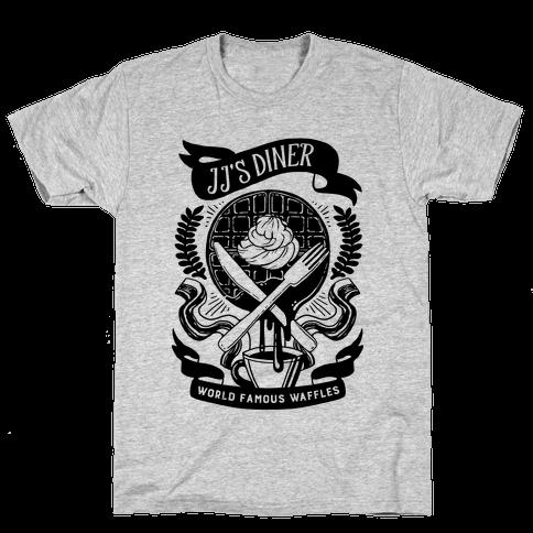 JJ's Diner: Belgian Waffle Crest Mens T-Shirt