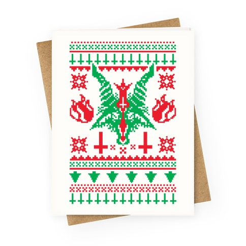 Christmas Baphomet  Greeting Card