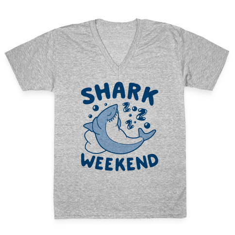 Shark Weekend V-Neck Tee Shirt