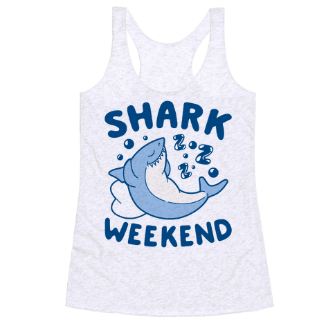 Shark Weekend Racerback Tank Top
