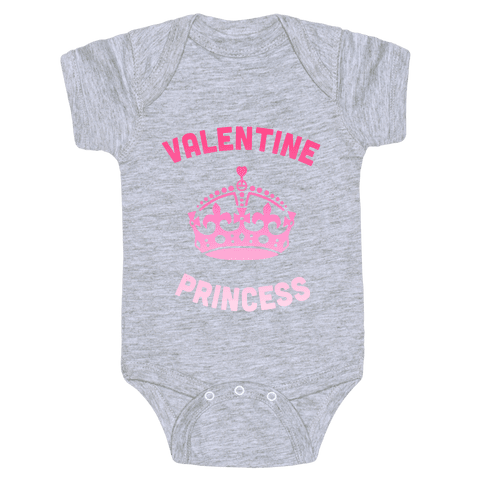 Valentine Princess Baby Onesy