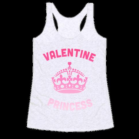 Valentine Princess Racerback Tank Top