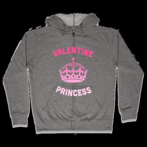 Valentine Princess Zip Hoodie
