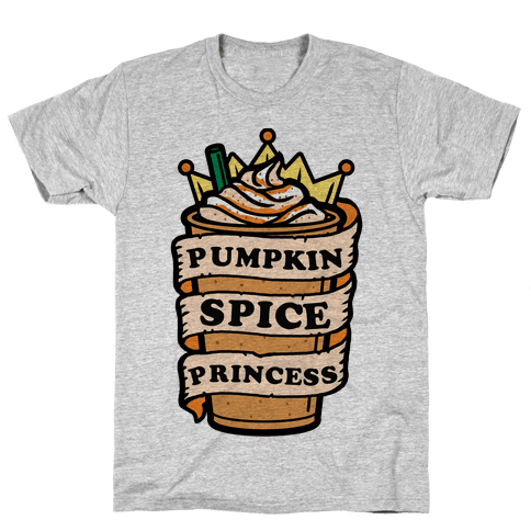 Pumpkin Spice Princess Mens T-Shirt