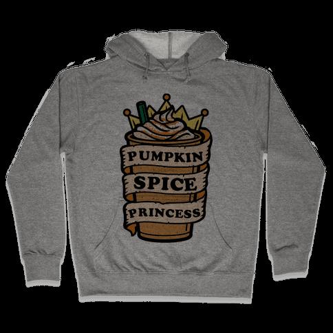 Pumpkin Spice Princess Hooded Sweatshirt