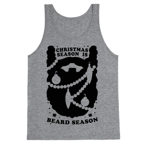 Christmas Season is Beard Season Tank Top