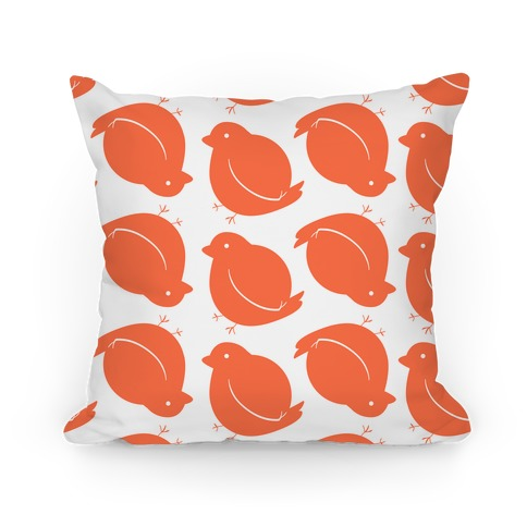 Chubby Bird Pattern Pillow (Orange)