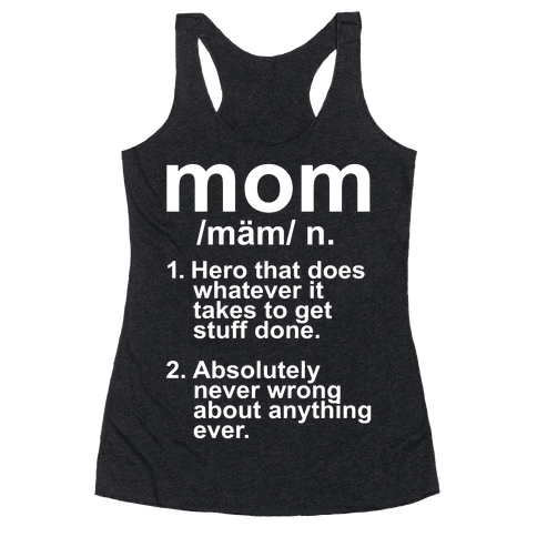 Mom Definition Racerback Tank Top