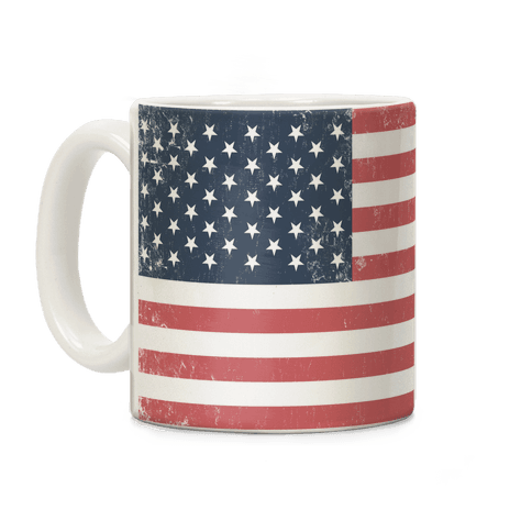 Distressed American Flag Mug Coffee Mug