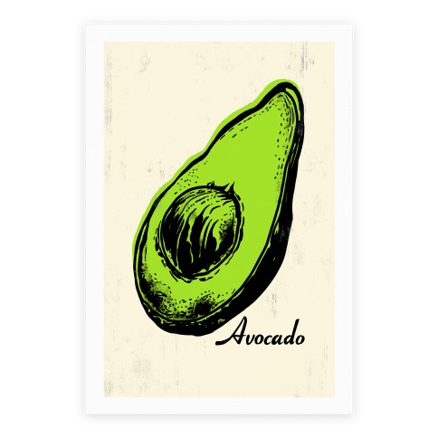 Pop Art Avocado Poster