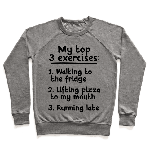 My Top Three Exercises Pullover