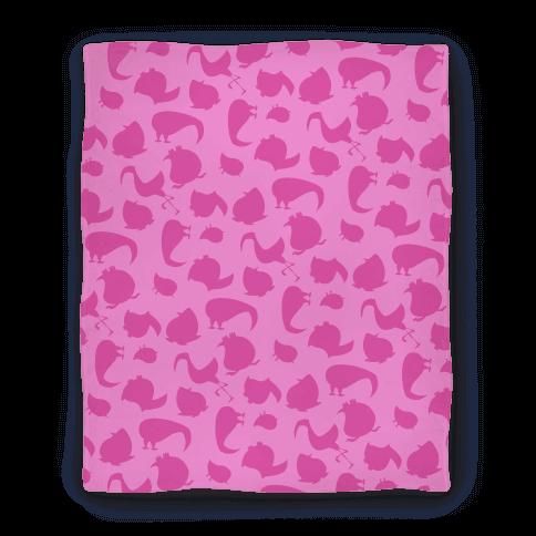 Birdie Pattern Blanket (Pink) Blanket