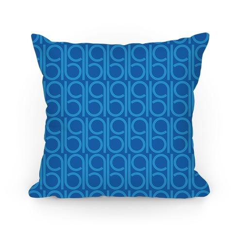 Blue Retro Pattern Pillow