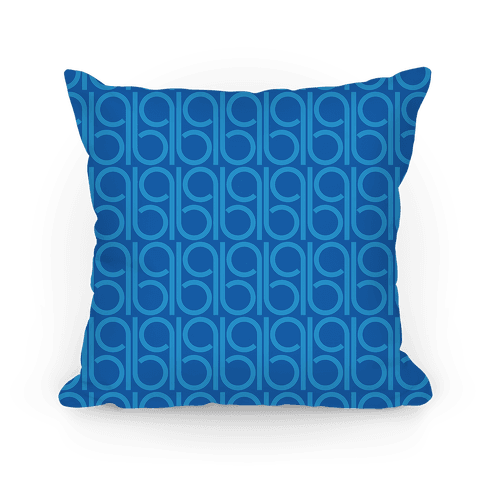 Blue Retro Pattern Pillow