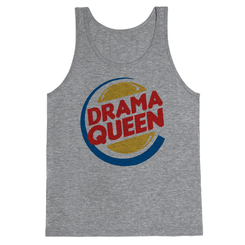 Drama Queen Burger Parody Tank Top