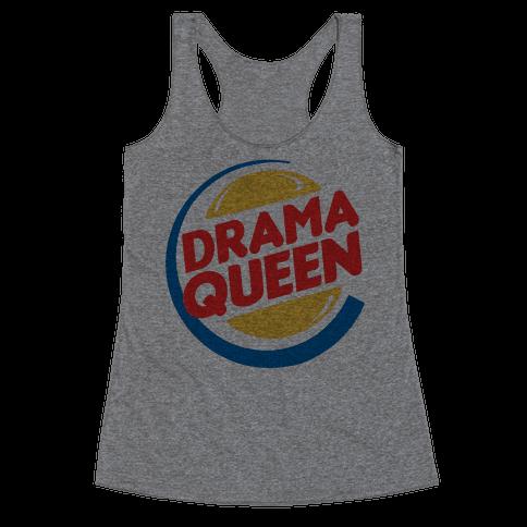 Drama Queen Burger Parody Racerback Tank Top