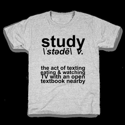 Study Definition Kids T-Shirt