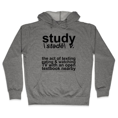 Study Definition Hooded Sweatshirt