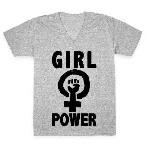 Girl Power V-Neck Tee Shirt
