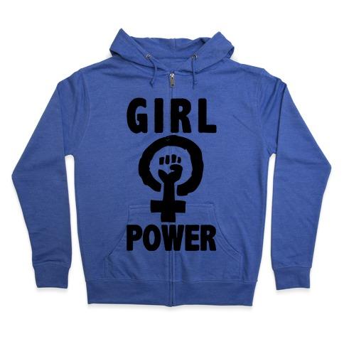 Girl Power Zip Hoodie