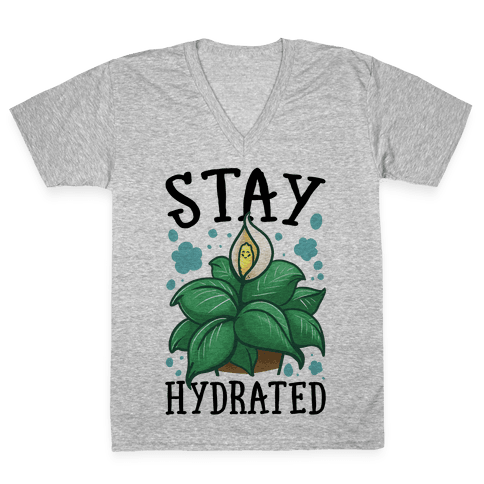 Stay Hydrated -Lily V-Neck Tee Shirt
