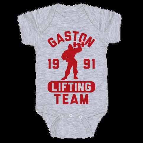 Gaston Lifting Team Baby Onesy