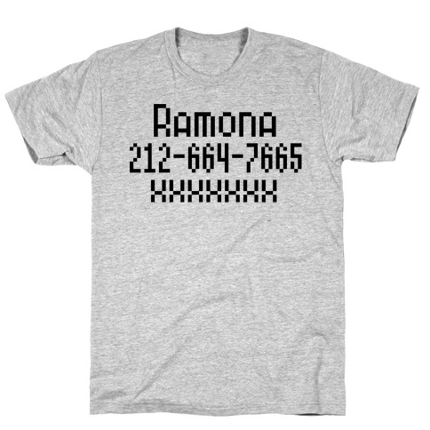 Ramona's Number T-Shirt