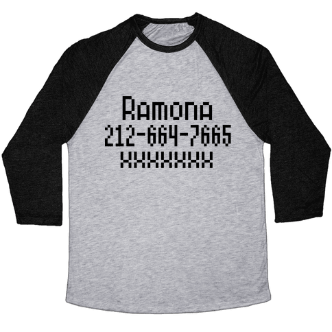 Ramona's Number Baseball Tee