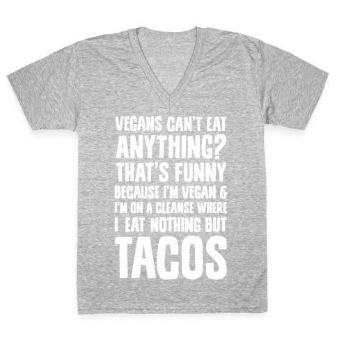 Vegan Taco Cleanse V-Neck Tee Shirt