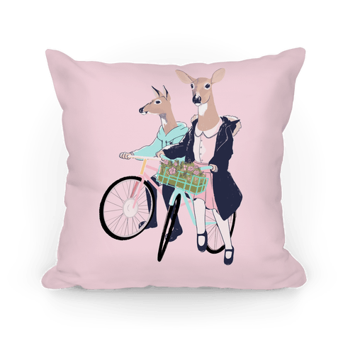 Neighborhood Bike Gang Pillow