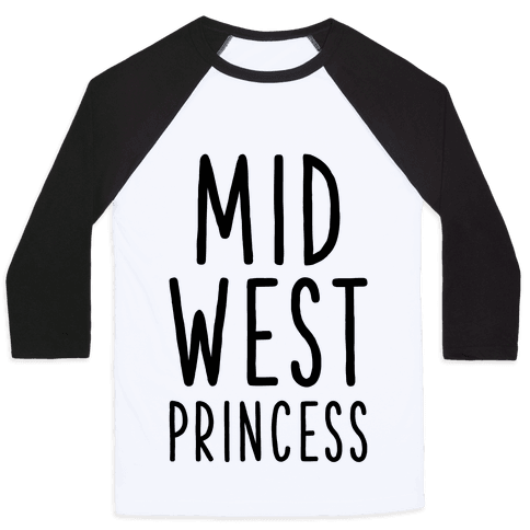 Midwest Princess Baseball Tee