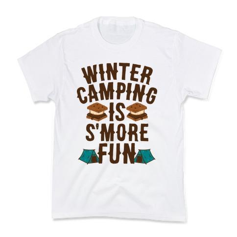 Winter Camping Is S'MORE Fun Kids T-Shirt