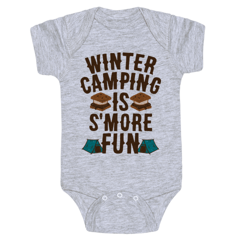Winter Camping Is S'MORE Fun Baby Onesy