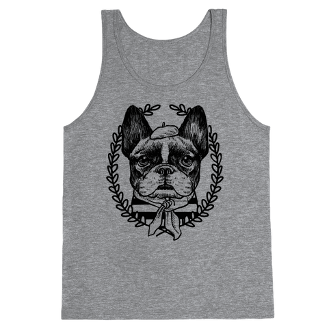 French Bulldog Illustration Tank Top