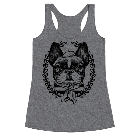 French Bulldog Illustration Racerback Tank Top