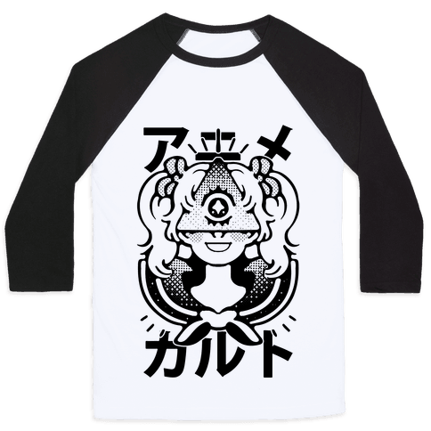 Anime Illuminati Cult Baseball Tee