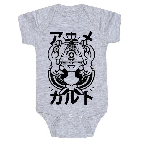 Anime Illuminati Cult Baby Onesy