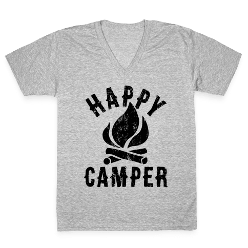 Happy Camper V-Neck Tee Shirt