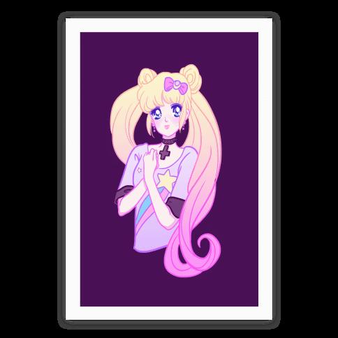 Pastel Dream Moon Poster