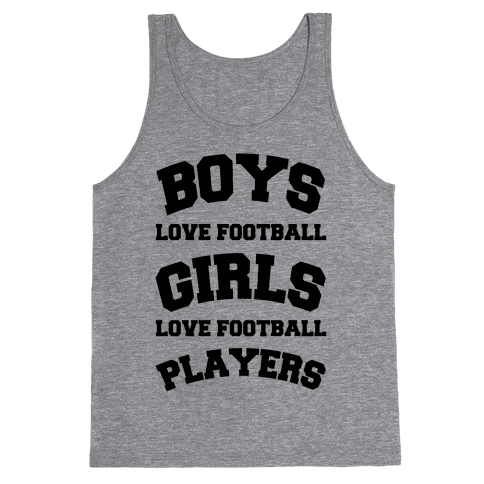 Boys and Girls Love Football Tank Top